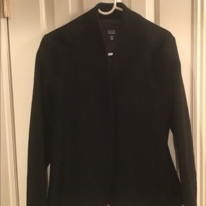 Black nubby textured jacket